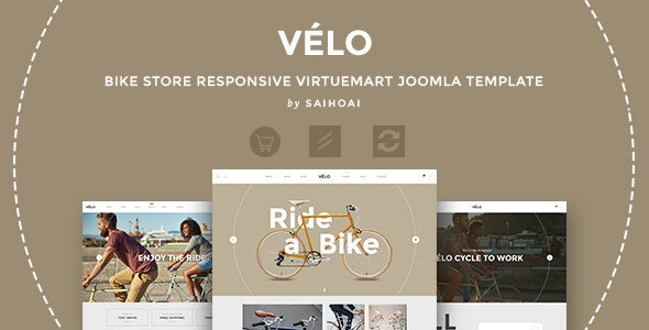 Velo - Bike Store Responsive VirtueMart Template - VirtueMart Joomla