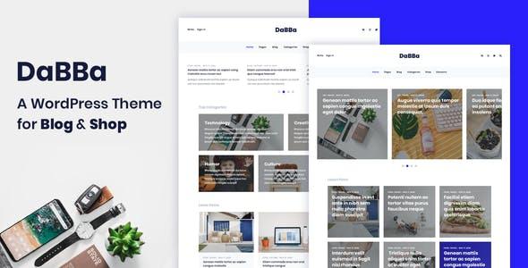 Dabba – A WordPress Theme For Blog & Shop - Blog / Magazine WordPress