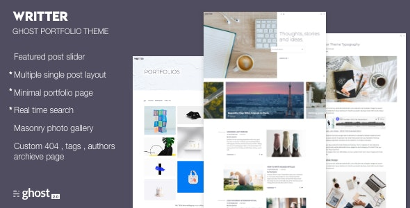 Writter – Ghost Portfolio Theme - Ghost Themes Blogging