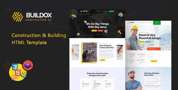 Buildox - Construction and Building HTML5 Template - Business Corporate