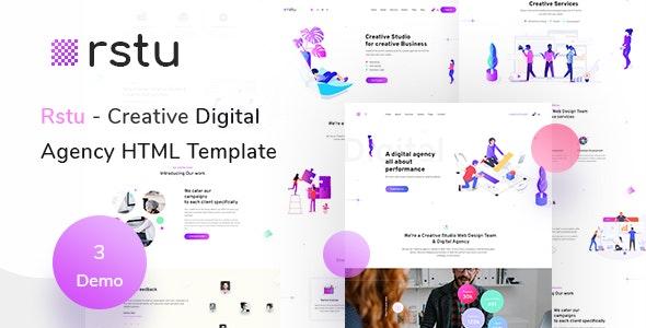 Rstu - Digital Agency HTML Template - Business Corporate