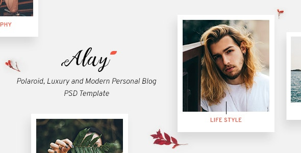 Alay – Polaroid, Luxury and Modern Personal Blog PSD Template - Portfolio Creative
