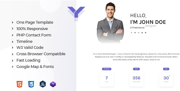 Yotta - Personal Portfolio Template - Resume / CV Specialty Pages