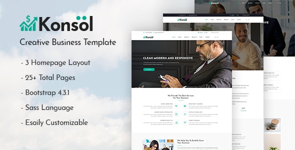 Konsol – Creative Business Template - Business Corporate
