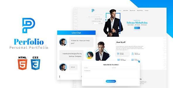 Perfolio - Personal HTML Template - Site Templates