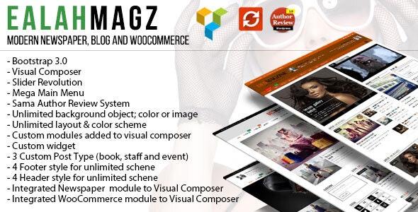 EalahMagz - Modern Magazine Theme - Blog / Magazine WordPress