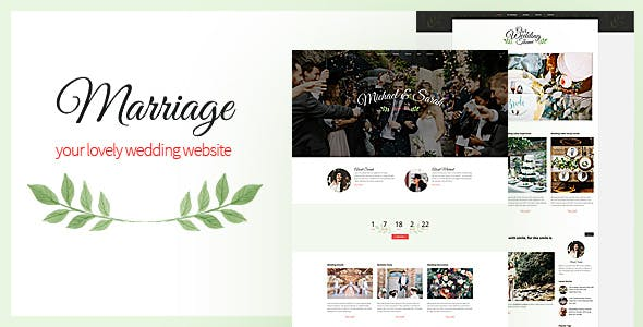 Find A Couple S Wedding Website.Wordpress Wedding Themes From Themeforest