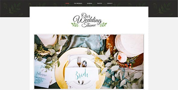 WordPress Wedding Themes from ThemeForest