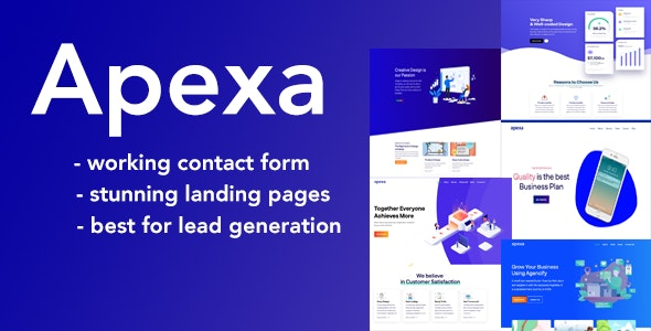 Apexa - Agency, Startup & SaaS HTML Template - Corporate Site Templates