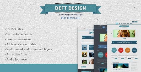 Deft Design - Light And Dark Template - Creative Photoshop