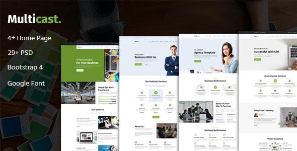 Multicast - Multipurpose Business PSD Template - Business Corporate