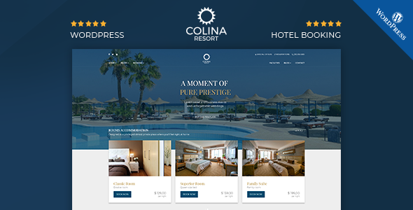 Colina : Resort and Hotel WordPress Theme - Travel Retail