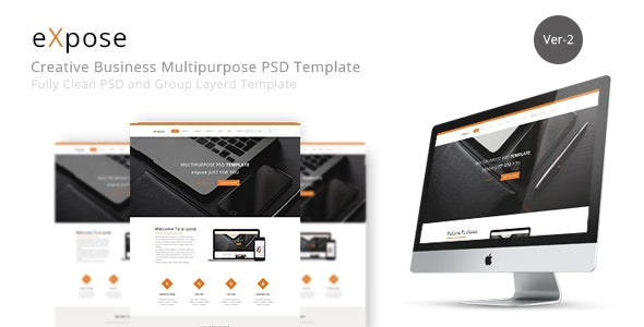 eXpose Multipurpose PSD Template - Creative Photoshop