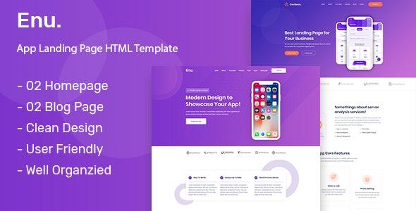 Enu. - App Landing Page - Marketing Corporate
