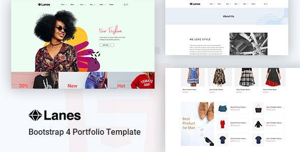 Lanes - Fashion Store HTML Template - Fashion Retail