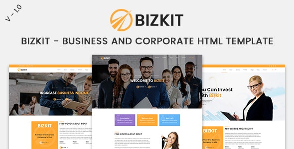 Bizkit - Business And Corporate HTML Template - Business Corporate