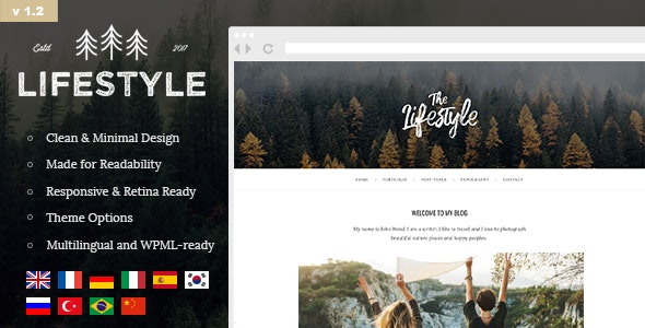 The Lifestyle - Vintage & Simple WordPress Blog Theme - Personal Blog / Magazine