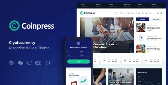 Coinpress | ICO Cryptocurrency Magazine & Blog WordPress Theme - Technology WordPress
