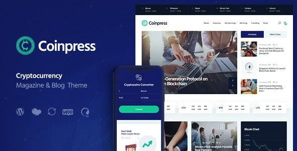 Coinpress | Cryptocurrency Magazine & Blog WordPress Theme - Technology WordPress