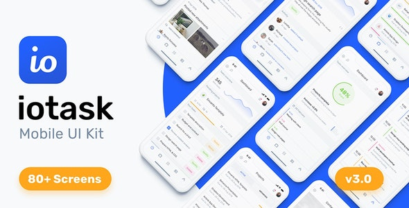 IOTASK Mobile - UI Kit for Todo & Management Apps - Sketch Templates