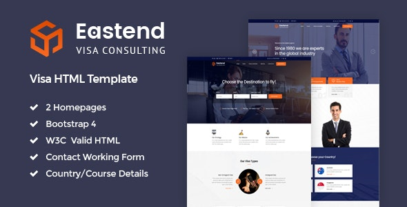 Eastend - Visa Consulting HTML Template - Site Templates