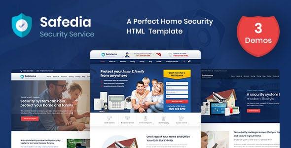 Safedia - Security HTML Template