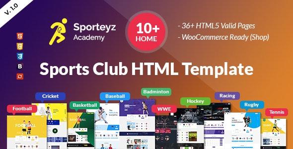 Sporteyz | Sports Club HTML Template - Events Entertainment