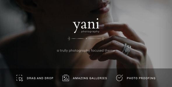 Yani - Clean and Minimalist Photography WordPress Theme - Photography Creative