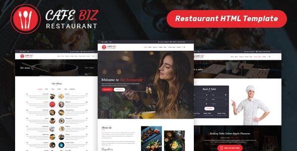 Cafe Biz | Restaurant & Food HTML Template - Restaurants & Cafes Entertainment