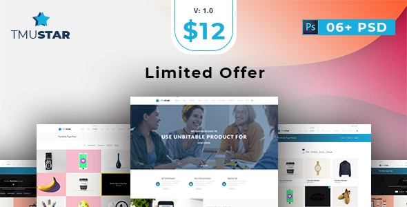 Tmustar | Multi-Purpose PSD Template - Marketing Corporate