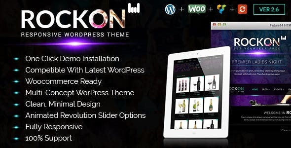 Rockon WordPress Theme - Nightlife Entertainment