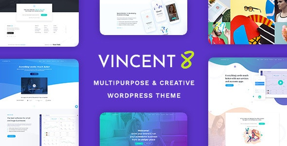 Vincent Eight | Responsive Multipurpose WordPress Theme - Creative WordPress