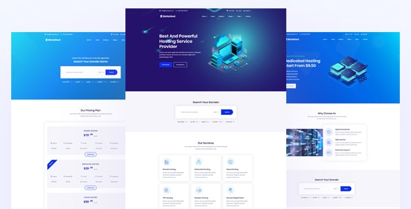 Metanic - Hosting HTML Template - Hosting Technology