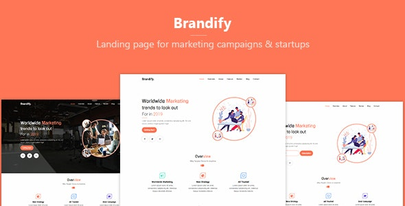 Brandify - Marketing Landing Page Template - Creative Site Templates