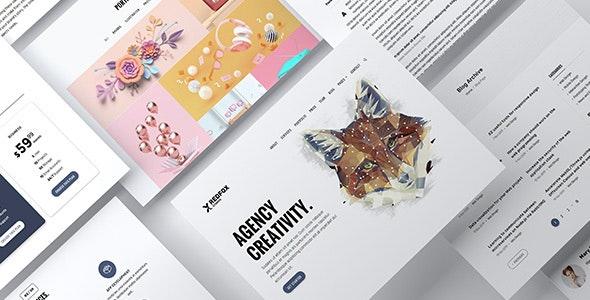RedFox - One Page Portfolio HTML Template - Portfolio Creative