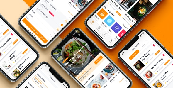 Fozzi - Food Delivery app UI Kit - Sketch Templates