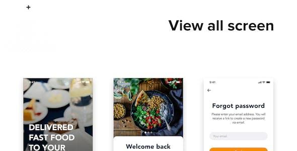 Fozzi - Food Delivery app UI Kit