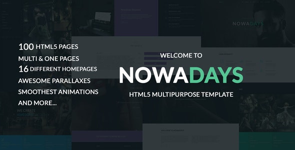 NowaDays - Multipurpose One/Multipage Creative Agency HTML5 Template - Portfolio Creative