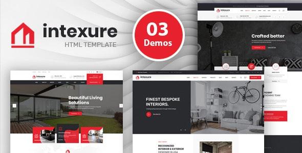 Intexure - Interior Design HTML Template - Business Corporate