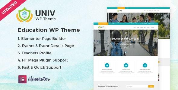 Univ – Education WordPress Theme - Education WordPress