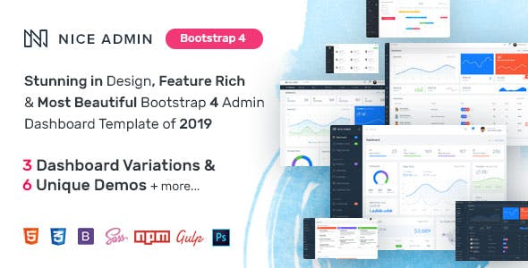 Bootstrap Panel Templates from ThemeForest