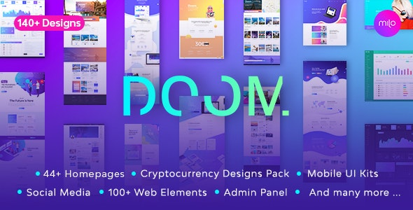 Doom - Massive All in One PSD Pack - Corporate PSD Templates