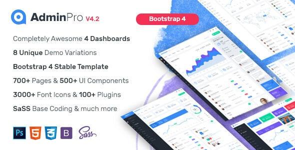 AdminPro - Bootstrap4 Admin Dashboard Template - Admin Templates Site Templates