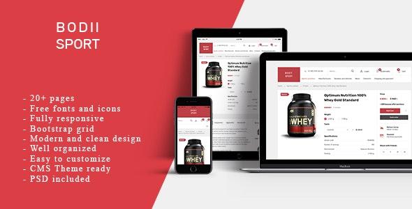 BodiiSport - E-commerce HTML Teplate - Shopping Retail