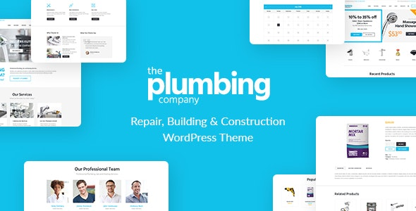 Plumbing - Repair, Building & Construction Wordpress Theme - Business Corporate