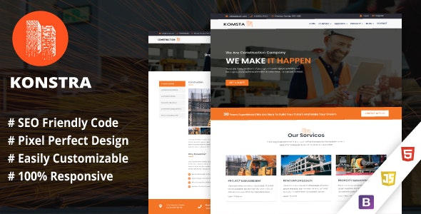 Konstra - Template for Architect and Construction - Business Corporate
