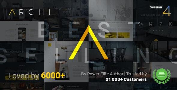 Archi - Interior Design & Architecture WordPress Theme - Portfolio Creative