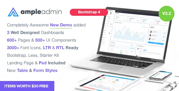 Ample Admin - Ultimate Dashboard Template by wrappixel | ThemeForest