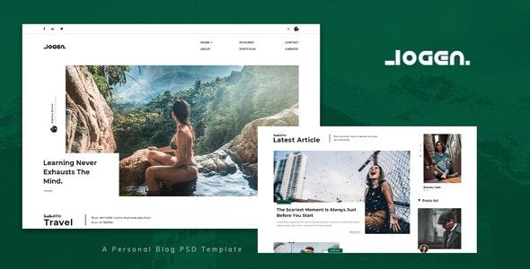 Logen - Personal Blog PSD Template - Personal Photoshop