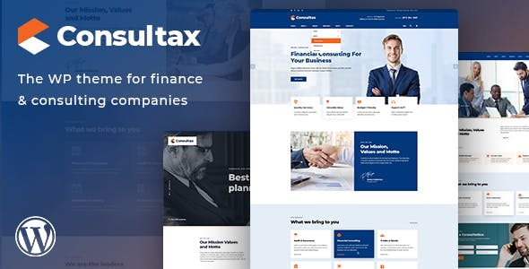 Consultax - Financial & Consulting WordPress Theme
